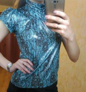 Красивая бирюзовая блуза 42-44