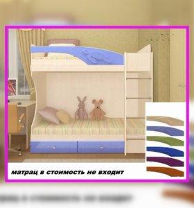 """Двухъярусная кровать """"Бемби 3D"""". тхм"""