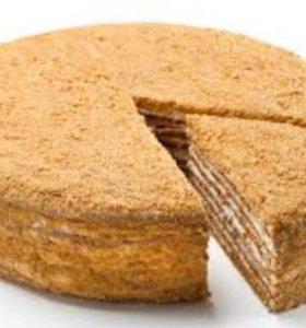 Спеку медовый торт на ваш праздник!