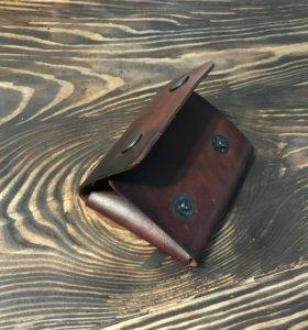 Мини кошелёк ручной работы