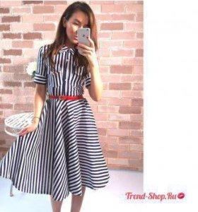 Новое полосатое платье, 42 размер