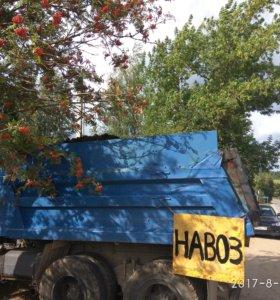 ДоставкаКАМАЗ 10куб Вывоз мусора Навоз Уголь Дрова