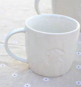 Белая кружка Старбакс/Starbucks с лого,355 мл
