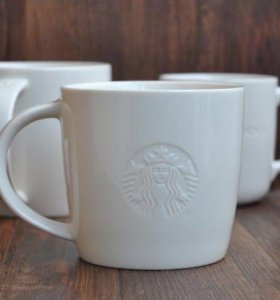 Кружка белая 473 мл(средняя), Старбакс/Starbucks