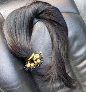 Натуральные волосы на капсуле