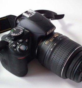 Nikon D3100 18-55 VR KIT зеркальная камера