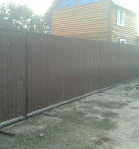 ворота от 8тр , забор от 500рб п.м.