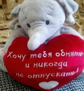 Слон мягкий большой игрушка