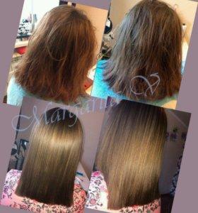 Кератиновое выпрямление волос, кератин
