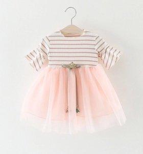 Платье новое на 6-7 месяцев