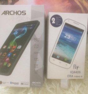 Продаю Archos 52 Platinum, Fly Era Nano 6