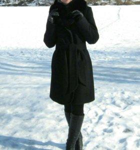 Пальто шерстяное мех писец