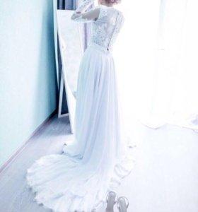 Свадебная юбка со шлейфом