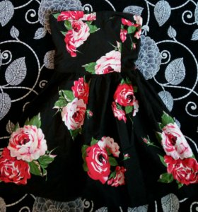 Платье сарафан в цветочек