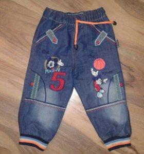 Джинсовые брюки р.92