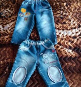 Джинсовые куртка и джинсы