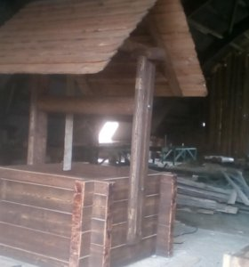 дрова,колодци и беседки