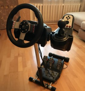 Logitech G27 + стойка Wheel Stand Pro