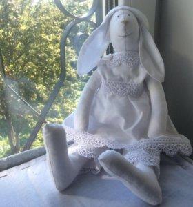 Заяц ( Тильда) ручной работы- белый