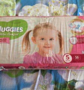 Подгузники хаггес для девочек 5