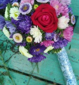 Букеты из садовых цветов