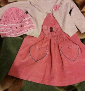 Платье + шапочка