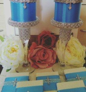 Корзины, свечи, бокалы, торосики цифры и буквы