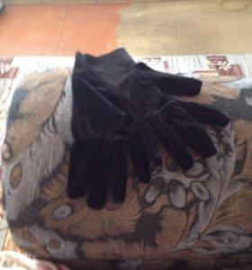 Перчатки бархат