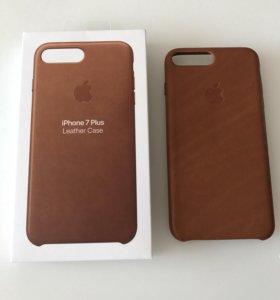 Клип-кейс Apple для iPhone 7 Plus кожаный