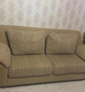 Раскладной диван с креслами