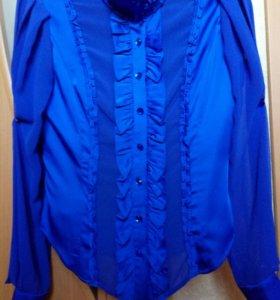 Блузка шелк+шифон