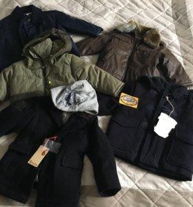 Новые куртки и пальто детские