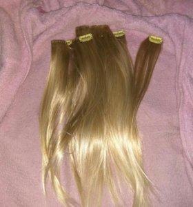 Пряди волос натуральные
