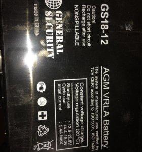 AGM VRLA battery