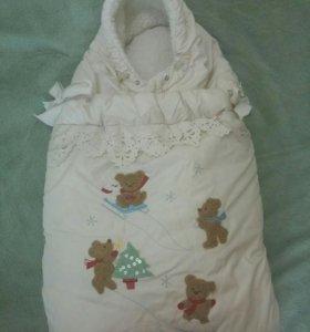 зимний конверт для малыша