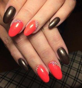 Наращивание ногтей))