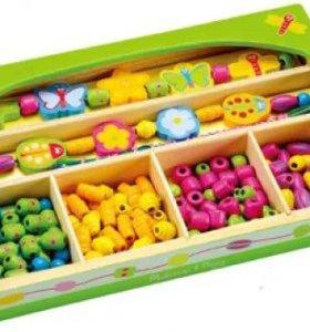 деревянные игрушки, бусины