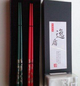 набор для суши (палочки + подставки), новый