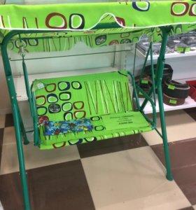 Качель садовая, детская, цвет зелёный