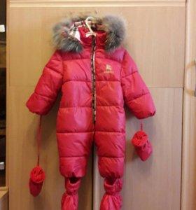 Детский зимний комбинезон 0+1