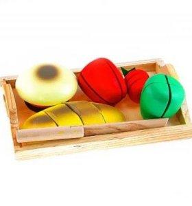 Деревянные игрушки, готовим завтрак