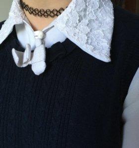 Блузка + жилетка