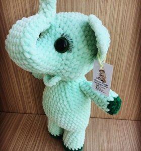 Игрушка плюшевый слон