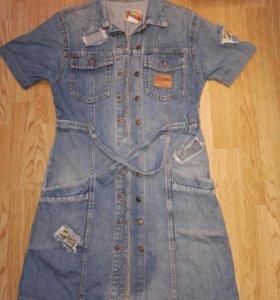 Сарафан платье джинсовый