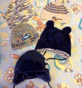 Комплект шапочек для мальчика