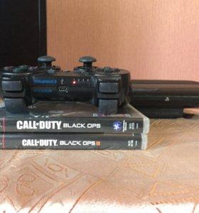 Playstation 3 Super slim 500gb+4 игры