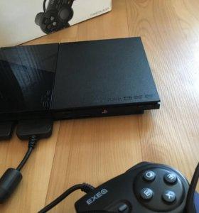 Sony PlayStation 2 slim + 2 геймпада