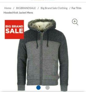 Куртка трикотажная с мехом.