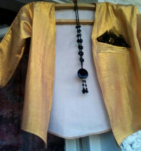 Золотой, красивый пиджак, р. 50-52