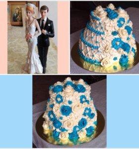 Фигурка молодожен для торта
